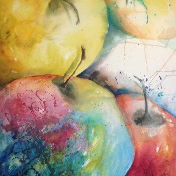 Äppelmust–akvarell